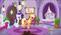 S06E10 Applejack i Rarity w spa