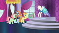 Sassy brings in mannequin with Princess Dress S5E14.png