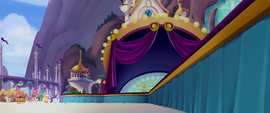 Side view of decoration-less festival stage MLPTM