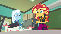 Trixie unsure what Sunset's talking about EGFF