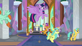 Twilight Sparkle flying over the students S8E1.png