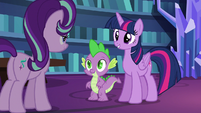 Twilight and Spike impressed with Starlight S6E21