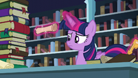 Twilight levitating a scroll S6E2