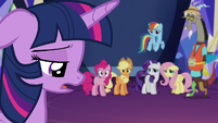 "Twilight speaking soft ""I wasn't there"" S5E22"
