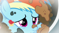 Young Rainbow Dash pouting S6E7
