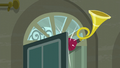 Antique horn in the boutique's front door S6E9.png