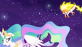 Celestia shields Starlight from Daybreaker's assault S7E10.png