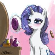 FANMADE Rarity applying makeup