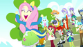 Fluttershy and students cheer excitedly SS4.png