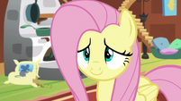 Fluttershy looking adorably anxious S7E5
