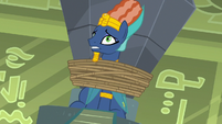 Prince Hisan bound to a stone crystal S7E18