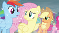 Rainbow, Fluttershy and Applejack concerned S3E1.png