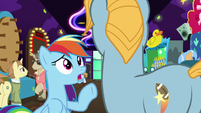 Rainbow Dash asking someone about grannies S8E5