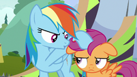 Rainbow Dash forbidding Scootaloo S8E20