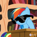 Rainbow with sunglasses (Hub promotional teaser) S4E21