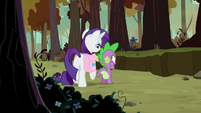 Rarity circling around Spike S8E11
