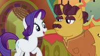Rarity singing to Coriander Cumin S6E12