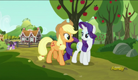 S06E10 Rarity i Applejack idą do spa