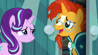 Sunburst happy to see Starlight again S6E1