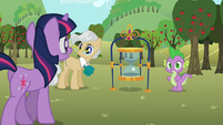 Twilight Mayor and Spike S02E15