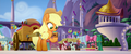 Applejack looking at empty cider cup MLPTM.png