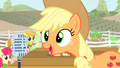 Applejack talking on the microphone S4E14.png