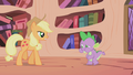 Applejack walking up to Spike S1E03.png