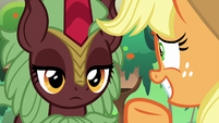 Dark-red Kirin still staring blankly S8E23