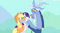 Discord lifts AJ and Rarity S4E11