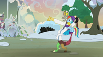 Discord pointing at the sunset MLPBGE
