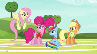 Fluttershy --you're a natural at buckball-- S6E18