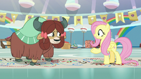 Fluttershy telling Yona to give it a try S9E7