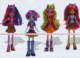 Friendship Games School Spirit Shadowbolts dolls