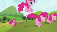 Pinkie Pie clones leaving the destruction S3E03