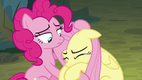 Pinkie Pie continues to comfort Fluttershy S8E13
