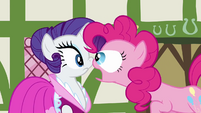 Pinkie Pie popping her eyes out on Rarity S3E3