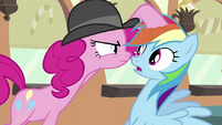 Pinkie Pie suspects Rainbow S2E24