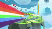 Rainbow Dash flies to Wonderbolt Academy S9E26