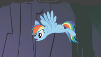 Rainbow Dash mentions the manticore S1E07