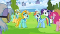 Rainbow Dash talks to Lightning Dust about her attitude S3E07.png