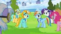Rainbow Dash talks to Lightning Dust about her attitude S3E07
