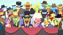 Spectator ponies laughing harder than ever S5E6