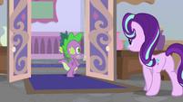 Spike leaving Twilight Sparkle's office S9E20