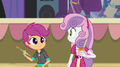 Sweetie Belle and Scootaloo painting a poster EG2.png