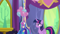 Twilight Sparkle annoyed by Discord's antics S7E1