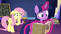 Twilight and Fluttershy worried for the CMC S9E22
