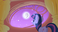 Twilight looking out her library window S1E01
