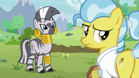 Zecora and Dr. Fauna look at Fluttershy and Angel S9E18