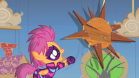 -Scootaloo reaching out to the sun S1E18