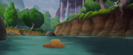 Applejack's hat floats down the stream MLPTM